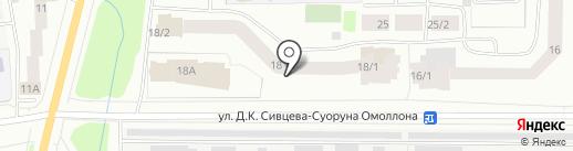 202 на карте Якутска