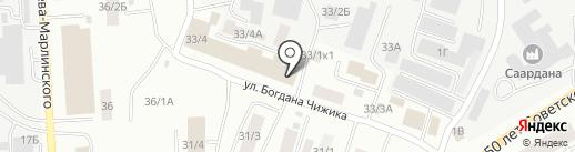 Айдар на карте Якутска