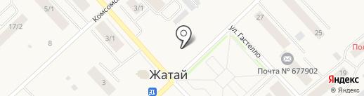 Киоск по продаже фруктов и овощей на карте Жатая