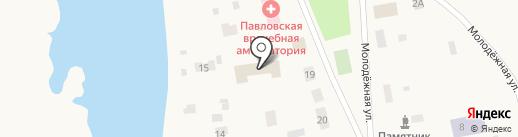 Продовольственный магазин на карте Павловска