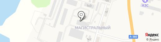 Почтовое отделение п.г.т. Нижний Бестях на карте Нижнего Бестях