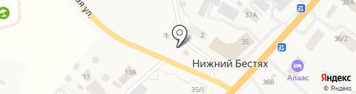Нотариус Семенов Н.А. на карте Нижнего Бестях