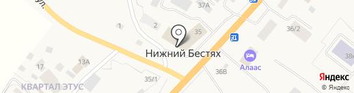 Нижний Бестях на карте Нижнего Бестях