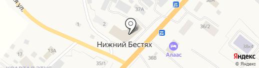 МТС на карте Нижнего Бестях