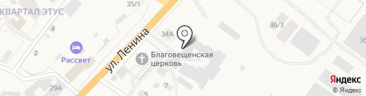 Бону на карте Нижнего Бестях