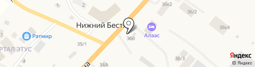Трапеза на карте Нижнего Бестях