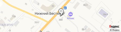 Сайын на карте Нижнего Бестях