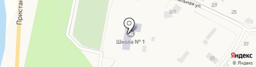 Нижне-Бестяхская средняя общеобразовательная школа №1 на карте Нижнего Бестях