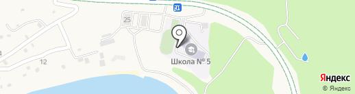 Средняя общеобразовательная школа №5 на карте Русского