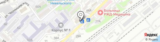 Селекта на карте Владивостока