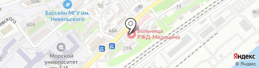 Отделенческая клиническая больница на ст. Владивосток на карте Владивостока