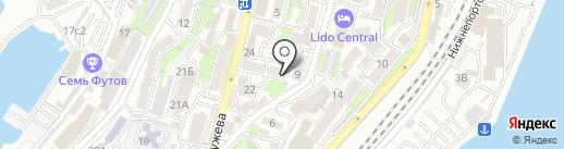 Восток-А на карте Владивостока