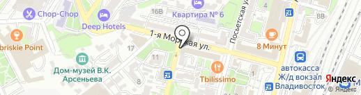 Ракета на карте Владивостока