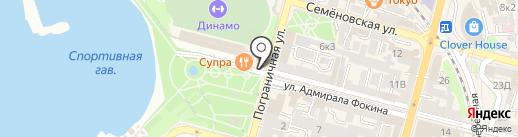Кот и клевер на карте Владивостока