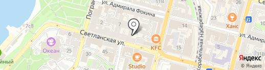 Север на карте Владивостока