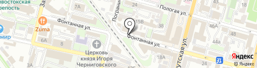 Застолье на карте Владивостока