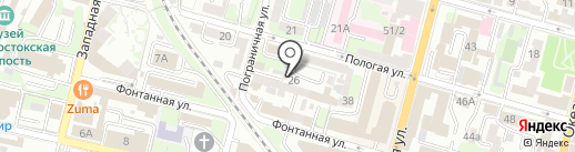 РОСКА на карте Владивостока