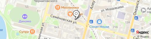 Balloon-zone на карте Владивостока