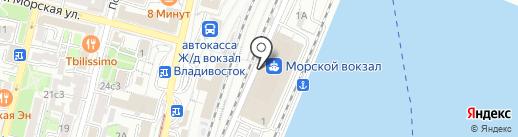 Три капитана на карте Владивостока