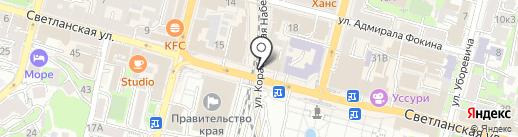 Клик на карте Владивостока
