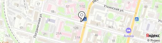 Продовольственный магазин на карте Владивостока
