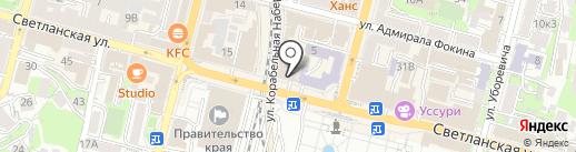 Адвокатский кабинет на Светланской на карте Владивостока