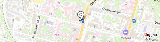 Приморская краевая клиническая больница №1 на карте Владивостока