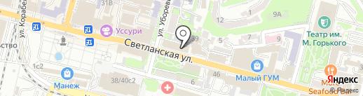 Адвокатская контора Семилет С.Ю. на карте Владивостока