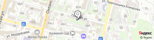 Виконта на карте Владивостока