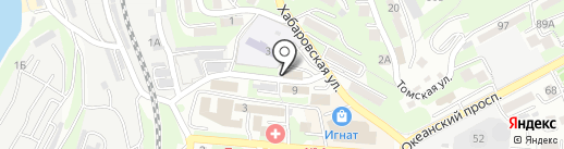 Открытие на карте Владивостока