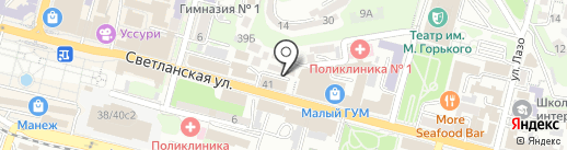 Приморская краевая общественная профсоюзная организация работников связи России на карте Владивостока