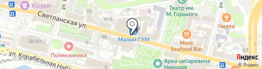 Магазин упаковки подарков на карте Владивостока