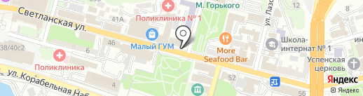Платежный терминал, АКБ Приморье, ПАО на карте Владивостока