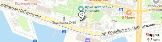 Библиотека на карте Владивостока