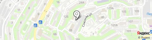 Кружева, ТСЖ на карте Владивостока