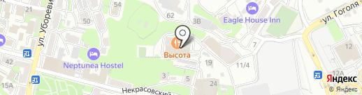 Высота на карте Владивостока