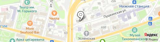 Центр социальной поддержки населения Приморского края на карте Владивостока