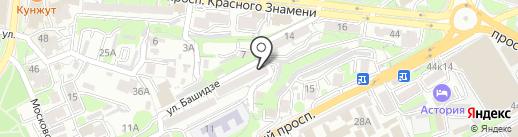 Центральный район на карте Владивостока