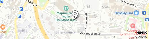Столовая на Фастовской на карте Владивостока