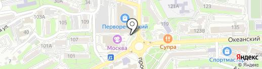Две Вишни на карте Владивостока