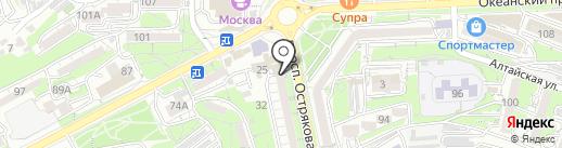 Банк Югра, ПАО на карте Владивостока