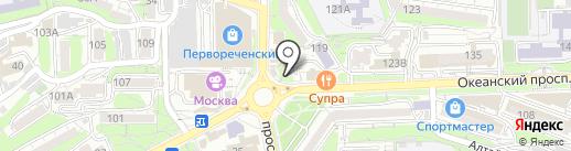 Пенная борода на карте Владивостока