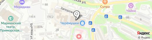 Две головы на карте Владивостока