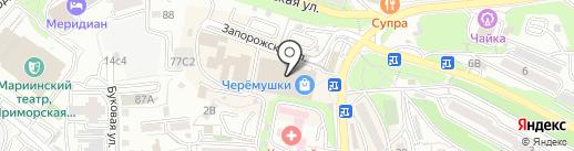 Сорока на карте Владивостока