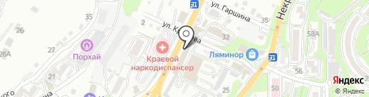Вирго на карте Владивостока