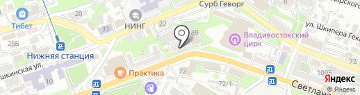Кубидом на карте Владивостока