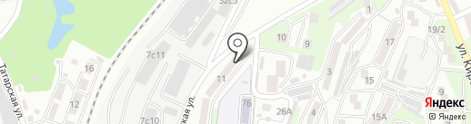 Один на карте Владивостока