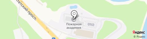 Санкт-Петербургский университет ГПС МЧС России на карте Русского