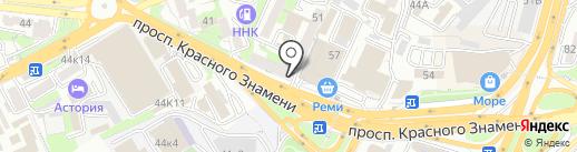Данран на карте Владивостока