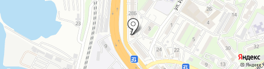 Дружок на карте Владивостока